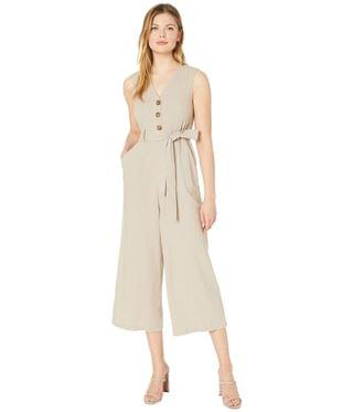 Women's Belted Button Front Bodice Jumpsuit. By Calvin Klein. 139.00. Style Khaki.