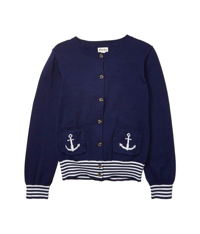 Girl's Nautical Navy Cardigan (Toddler/Little Kids/Big Kids). By Hatley Kids. 44.00. Style Blue.