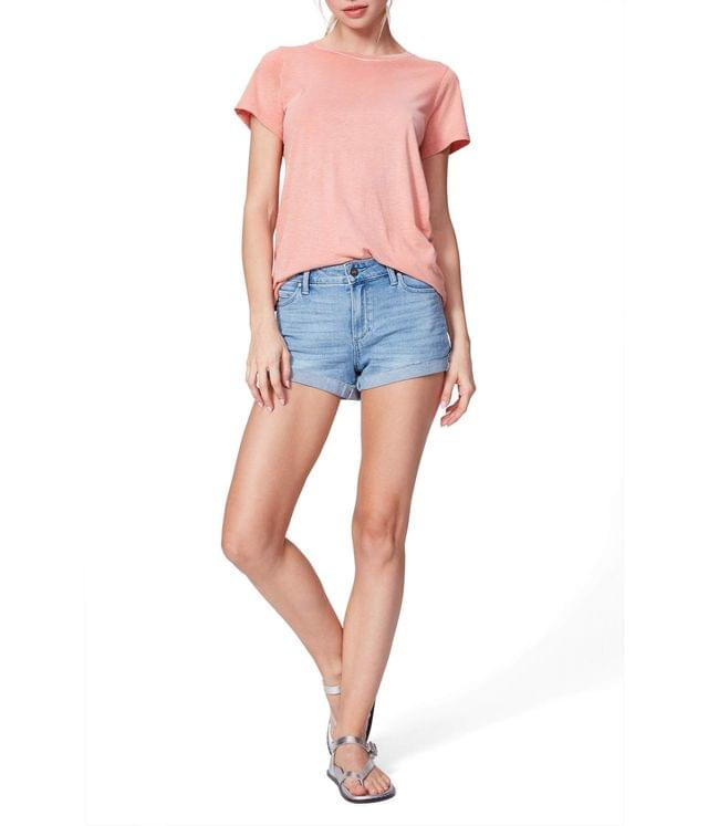 WOMEN Jimmy Jimmy Shorts w/ Raw Cuff in Belle. By Paige. 159.00. Style Belle.