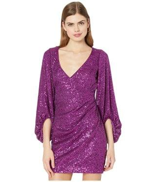 WOMEN Retro Sleeve Summer Sequin Mini. By Badgley Mischka. 275.00. Style Orchid.