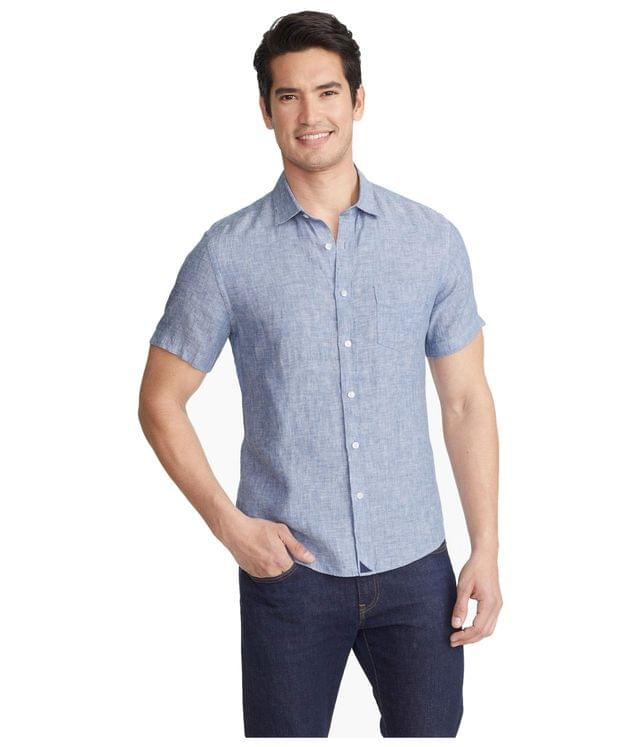 Men's Wrinkle-Resistant Short Sleeve Linen Shirt. By UNTUCKit. 89.00. Style Blue.