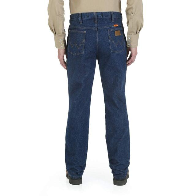 Men's Flame Resistant Premium Performance Slim Fit Jeans. By Wrangler. 79.95. Style Dark Denim.