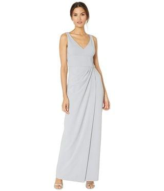 WOMEN Knit Crepe Dress. By Adrianna Papell. 159.00. Style Bridal Silver.