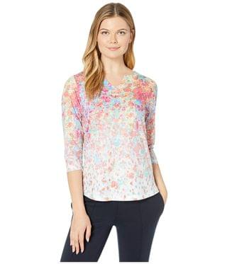 WOMEN Smooth Printed Jersey Floral Burst Printed Notched Crew Top. By FDJ French Dressing Jeans. 45.60. Style Multi.