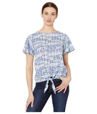 WOMEN Printed Burnout Dye Look Flutter Sleeve Top. By FDJ French Dressing Jeans. 51.38. Style Indigo.