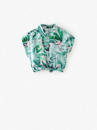 Girl's KNOTTED PRINT SHIRT