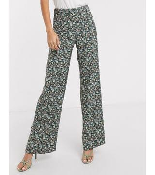 WOMEN Mango blazer and pants suit in floral print