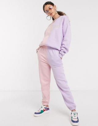 WOMEN Local Heroes relaxed sweatpants in pastel color block two-piece