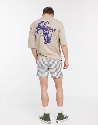 Tom and Jerry oversized t-shirt with large raised back print