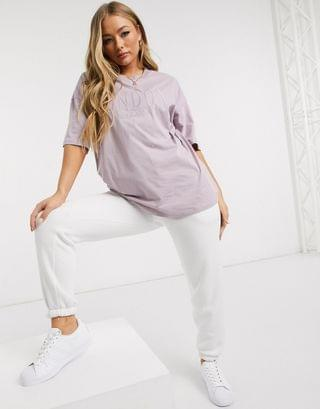 WOMEN oversized t-shirt with tonal London city embroidery