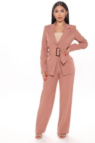 WOMEN Show Me Respect Suit Set - Mauve