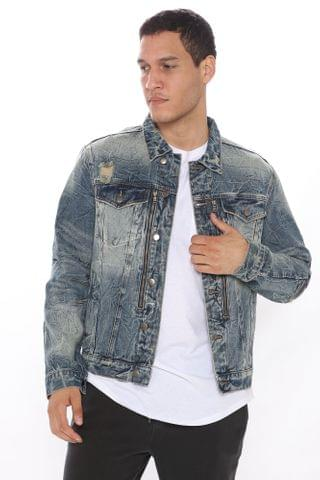 MEN Big Timer Denim Jacket - MediumWash