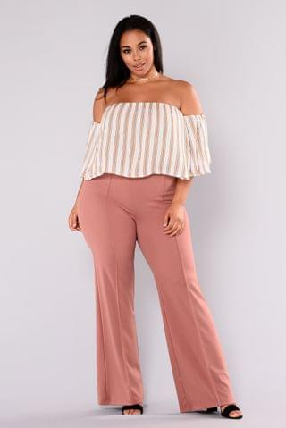 WOMEN Victoria High Waisted Dress Pants - Mauve