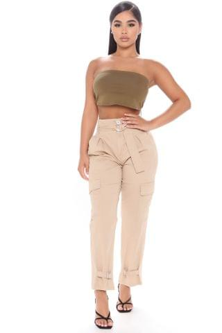 WOMEN Beyond The Basic Utility Pants - Khaki