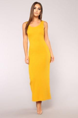 WOMEN Mulberry Street Maxi Dress - Mustard