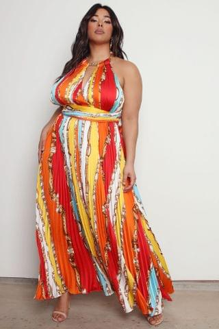 WOMEN Inspired By You Satin Maxi Dress - Multi Color
