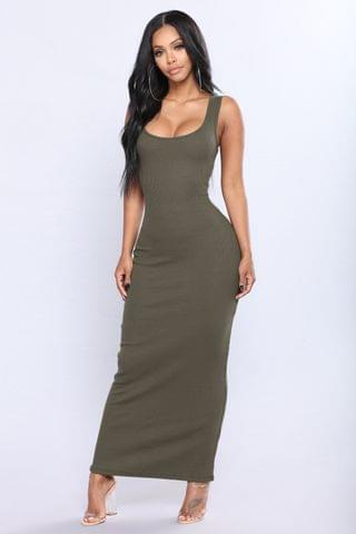 WOMEN Mulberry Street Maxi Dress - Olive
