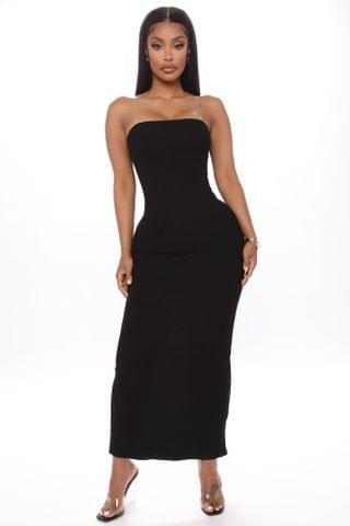 WOMEN Party In The Back Maxi Dress - Black