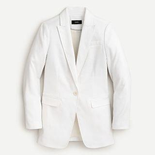 WOMEN Long Parke blazer stretch linen