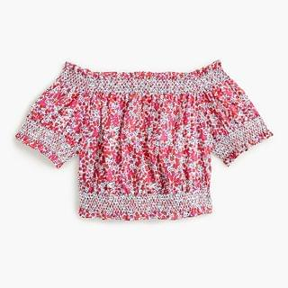 WOMEN Cotton poplin cropped top in Liberty Wiltshire print