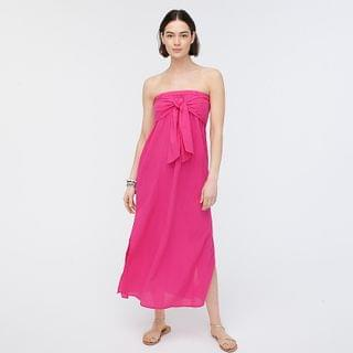 WOMEN Strapless bow-front cover-up dress