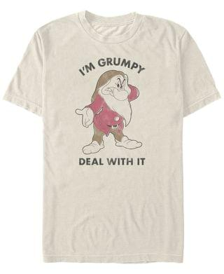 MEN Men's Snow White and the Seven Dwarfs I'm Grumpy Deal with it, Short Sleeve T-Shirt
