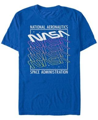 MEN NASA Men's Neon Colors Space Administration Short Sleeve T- shirt