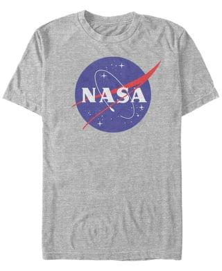 MEN NASA Men's Classic Circle Logo Short Sleeve T- shirt