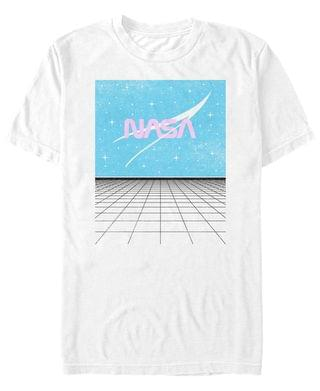 MEN NASA Men's Space Grid Short Sleeve T- shirt