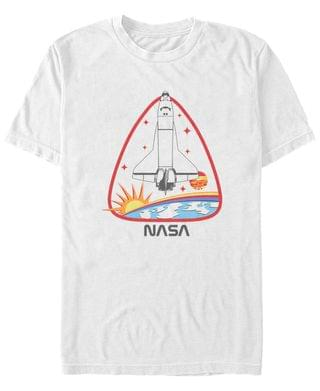 MEN NASA Men's Rocket Ship Badge Short Sleeve T- shirt