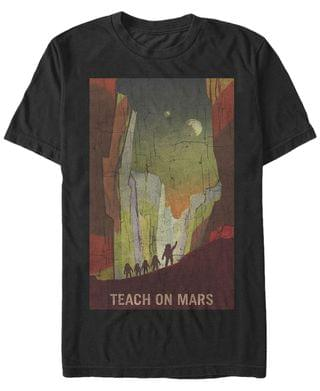 MEN NASA Men's Teach On Mars Poster Short Sleeve T- shirt