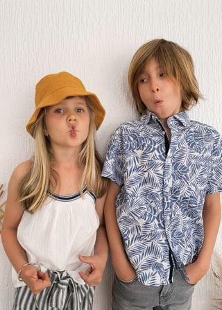 KIDS Embroidered panel top