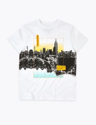 KIDS Pure Cotton New York T-Shirt (6-16 Years)
