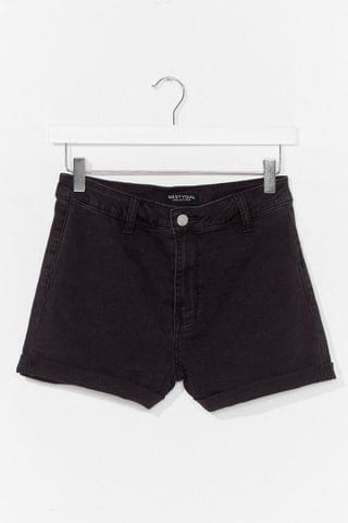WOMEN It's Your Turn-Up High Waisted Denim Shorts