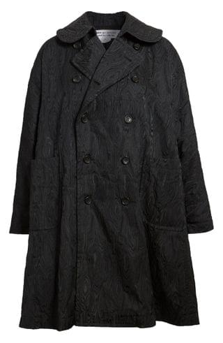 WOMEN Comme des Gar ons Moir Pattern Jacquard Double Breasted Coat