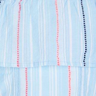KIDS Girls blue stripe print skirt outfit