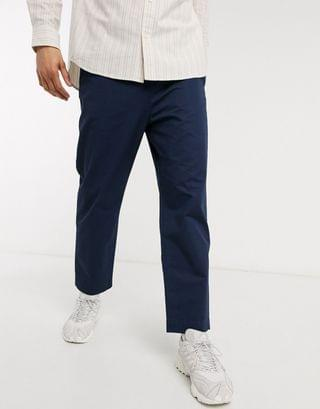 Weekday Madison Twill pants in Navy