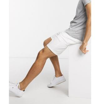 Selected Homme denim shorts in white