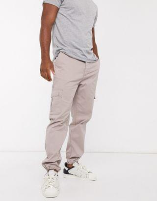tapered cargo pants in brown