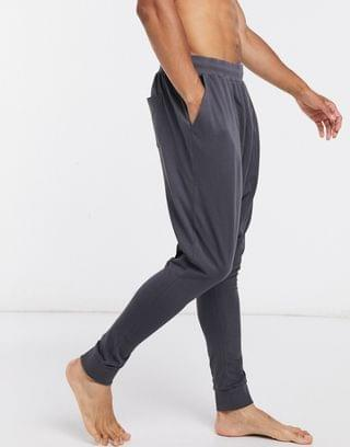 lounge drop crotch jogger in washed black