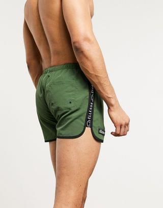 ellesse Larito swim shorts with taping in khaki exclusive at