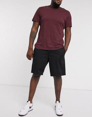 Only & Sons slim fit chino shorts in black