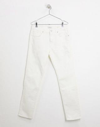 Selected Homme slim fit jeans in white