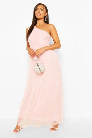 WOMEN Petite Occasion One Shoulder Maxi Dress