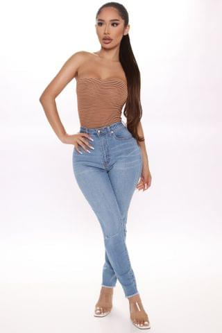 WOMEN Love These Curves Ankle Jeans - Medium Blue Wash