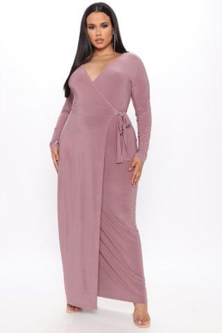WOMEN Vivi Maxi Wrap Dress - Mauve