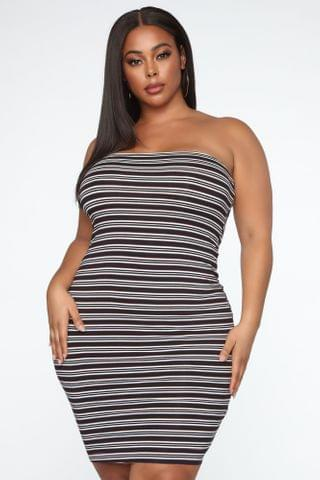 WOMEN Summer Ready Stripe Dress - Black/Combo