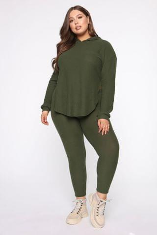WOMEN Cutting Corners Legging Set - Olive