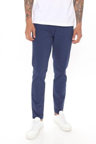 MEN Work From Home Twill Pants - Navy