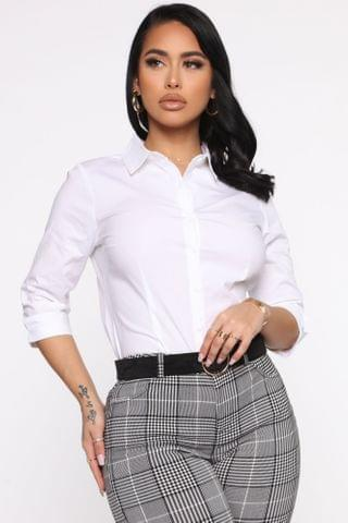 WOMEN The One And Only Button Down Shirt - White